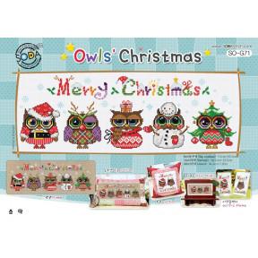 Совиное Рождество Набор для вышивания крестом (AIDA 14) SODA Stitch SO-G71A