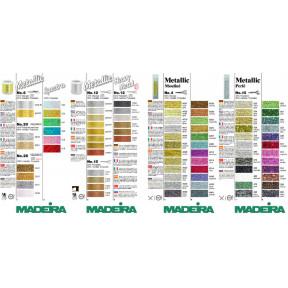 Карта цветов Metallic для рукоделия №4,6,8,10,12,20,25 Spectra 116