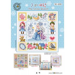 Снежная королева Набор для вышивания крестом (Linen 32) SODA Stitch SO-3228L