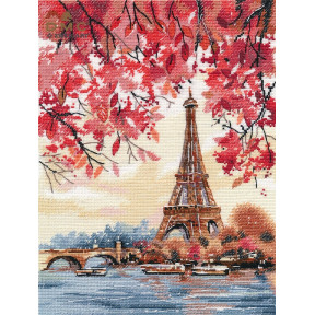 Романтика Парижа Набор для вышивки крестом Овен 1373о