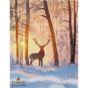 В зимнем лесу Набор для вышивки крестом Овен 1399о