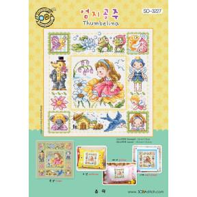Дюймовочка Набор для вышивания крестом (Aida 14)  SODA Stitch SO-3227A