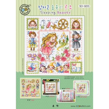 Спящая красавица Набор для вышивания крестом (AIDA 14) SODA Stitch SO-3223A
