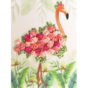 """НЛ-4044 Набор для вышивания лентами Марічка """"Фламинго"""""""