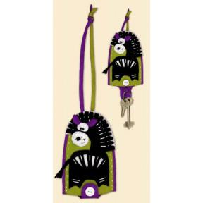 Набор для рукоделия Риолис 1337АС Чехол для ключей Зебра