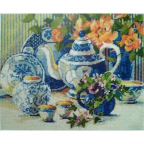 Набор для вышивания  Janlynn 23-105 Blue & White Still Life