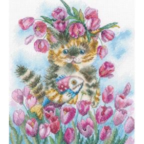 Тюльпановая весна Набор для вышивки крестиком RTO M839