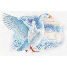 Снежный гусь Набор для вышивки крестиком RTO M855