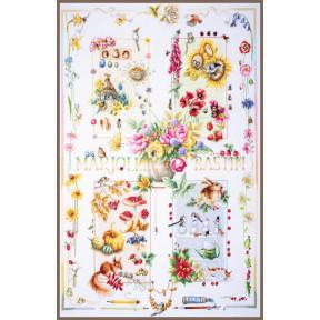 Набор для вышивки крестом LanArte PN-0188067  Four seasons