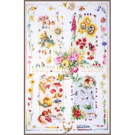 Набор для вышивки крестом LanArte PN-0008254  Four seasons
