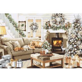 Мечтая о белом Рождестве Набор для вышивки Luca-S B2393