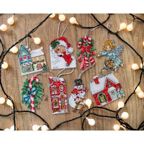 Рождественский набор игрушек № 2 LETISTITCH Набор для вышивания крестом L 8002