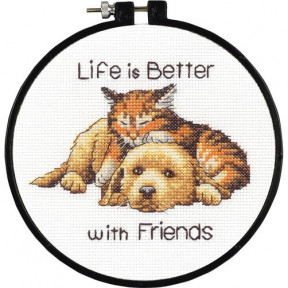 Better with Friends Набор для вышивания крестом Dimensions 72-74549