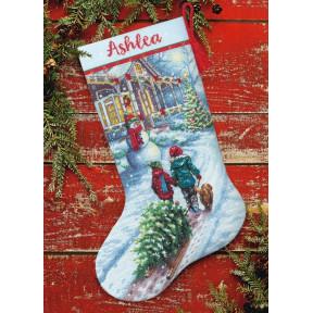 Christmas Tradition Stocking Набор для вышивания крестом Dimensions 70-08995