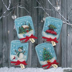 Vintage Jar Ornaments Набор для вышивания крестом Dimensions 70-08997
