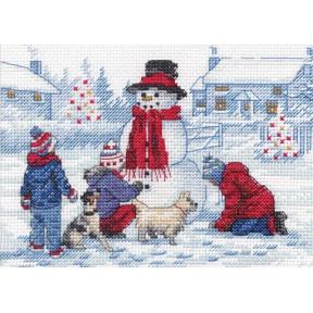 Building A Snowman Набор для вышивания крестом Dimensions 70-08993