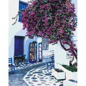 Солнечная Греция Картина по номерам Идейка холст на подрамнике 40x50см КНО2168