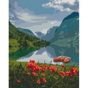 Красота Норвегии Картина по номерам Идейка холст на подрамнике 40x50см КНО2256