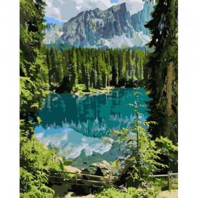 Загадочное озеро Картина по номерам Идейка холст на подрамнике 40x50см КНО2270