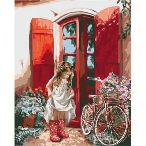Маленькая принцесса Картина по номерам Идейка холст на подрамнике 40x50см КНО2324