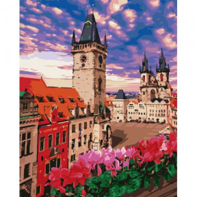 Невероятная Прага Картина по номерам Идейка холст на подрамнике 40x50см КНО3574