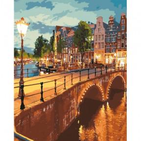 Вечерний город Картина по номерам Идейка холст на подрамнике 40x50см КНО3578