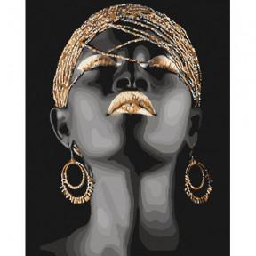 Африканская принцесса Картина по номерам Идейка холст на подрамнике 40x50см КНО4559