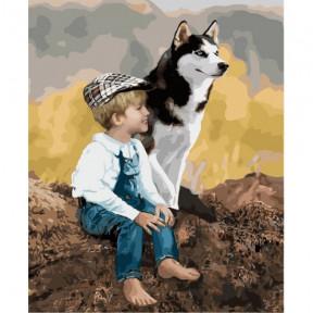 Настоящие друзья Картина по номерам Идейка холст на подрамнике 40x50см КНО4660