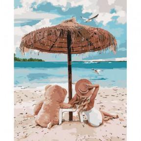 Я и мой мишка Картина по номерам Идейка холст на подрамнике 40x50см КНО4671