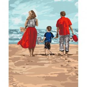 Семейный отдых Картина по номерам Идейка холст на подрамнике 40x50см КНО4679