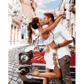 Страстный поцелуй Картина по номерам Идейка холст на подрамнике 40x50см КНО4718