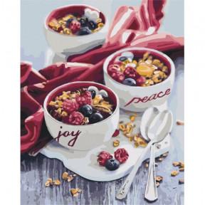 Сладкий привкус утра Картина по номерам Идейка холст на подрамнике 40x50см КНО5538