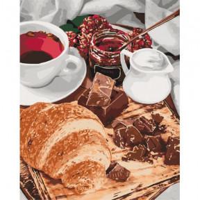 Французский завтрак Картина по номерам Идейка холст на подрамнике 40x50см КНО5573