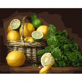 Лимонное настроение Картина по номерам Идейка холст на подрамнике 40x50см КНО5589