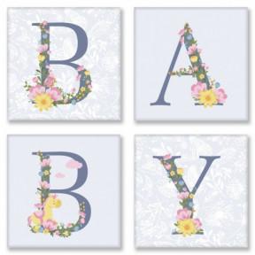 Набор для росписи по номерам полиптих BABY, прованс Картина по номерам Идейка подарочная упаковка с ручкой СH107