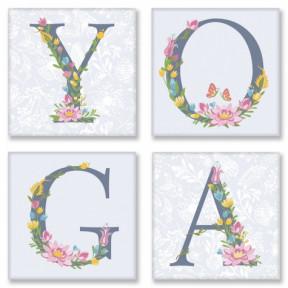 Набор для росписи по номерам полиптих YOGA, прованс Картина по номерам Идейка подарочная упаковка с ручкой СH116