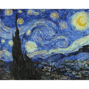 Звездная ночь BrushMe холст на подрамнике 40x50см PGX4756