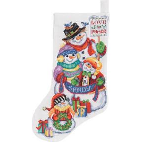 Набор для вышивания сапога Janlynn 023-0341 Snow Folks Stocking