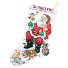 Набор для вышивания сапога Janlynn 023-0210 Santa & Animals