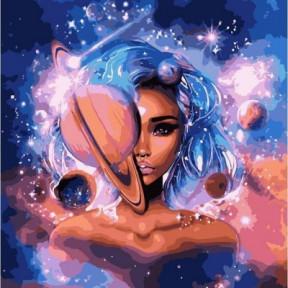 Повелительница вселенной с красками металлик Картина по номерам Идейка подарочная упаковка 50x50см