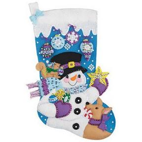 Набор для изготовления сапога из фетра Janlynn 021-0997 Frosty's Ornament