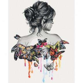 Нежность бабочки Картина по номерам Идейка холст на подрамнике 40x50см КНО2688