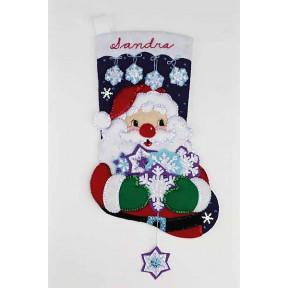 Набор для изготовления сапога из фетра Janlynn 090-0054 Santa's Snowflake