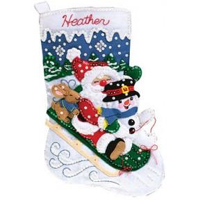 Набор для изготовления сапога из фетра Janlynn 090-0051 Christmas Fun