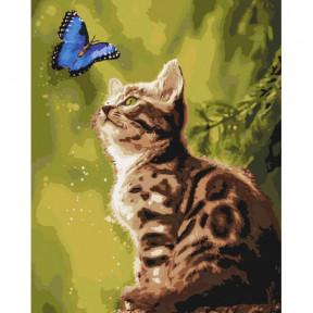Загадочная бабочка Картина по номерам Идейка холст на подрамнике 40x50см КНО4150