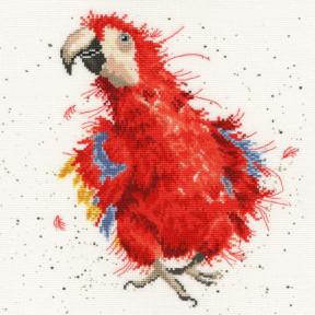 Попугай на параде Bothy Threads Набор для вышивания крестом XHD26