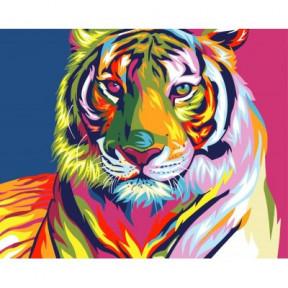 Тигр поп арт BrushMe холст на подрамнике 40x50см BS9203