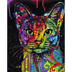 Абиссинская кошка BrushMe холст на подрамнике 40x50см BS9868