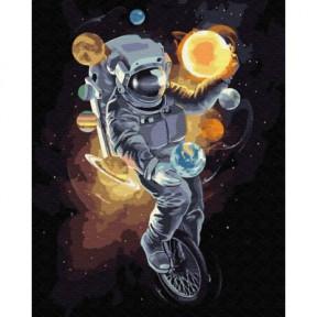 Космический жонглер BrushMe холст на подрамнике 40x50см GX34813