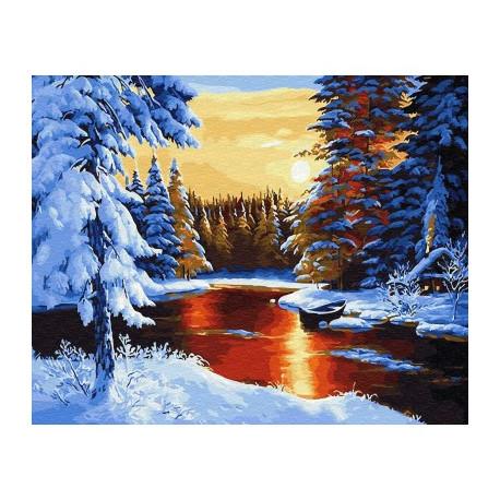 Сказочная зима BrushMe холст на подрамнике 40x50см GX29405